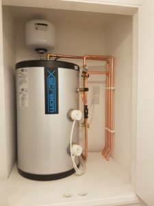 PBT Installations - Home - Pressurised hot water cylinder installation